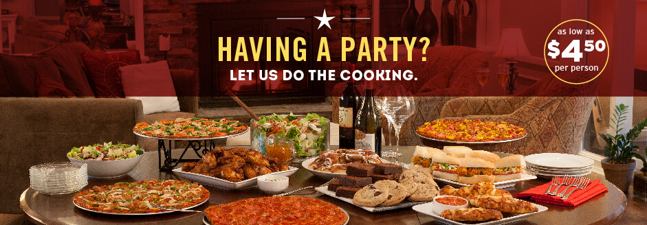 Having a party? Let us do the cooking.
